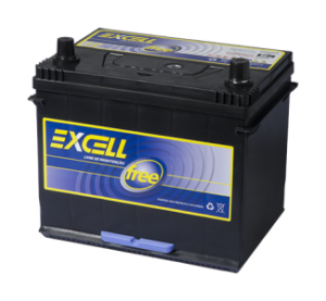 Bateria Excell Free 80Ah 12v EXF80TCE